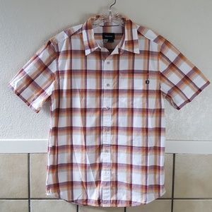 Marmot Men's short sleeve plaid button up Size Med